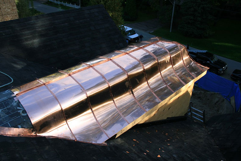copper roofing, corregated metal roofing