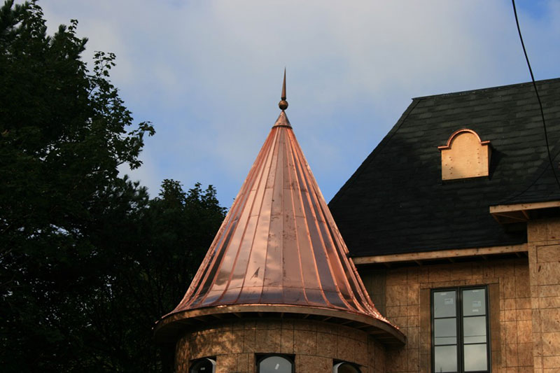 Copper Turret Roof In Richmond Hill