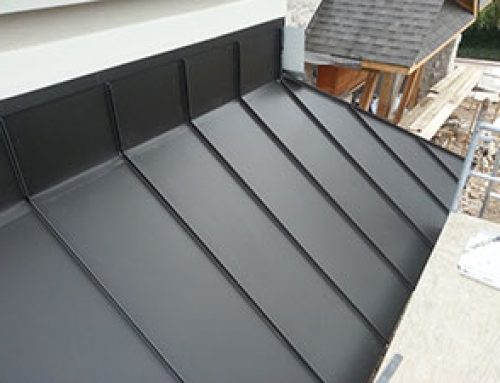 Custom Zinc Standing Seam Roof in Mississauga