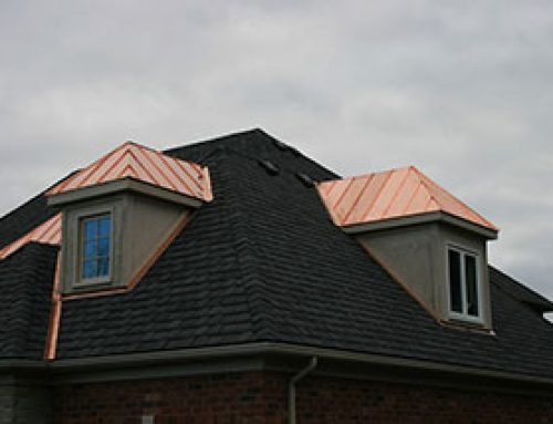 GAF Camelot designer shingles and 16oz copper standing seam roofs