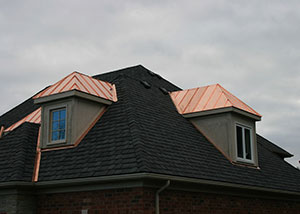 copper roofing, standing seam roofing