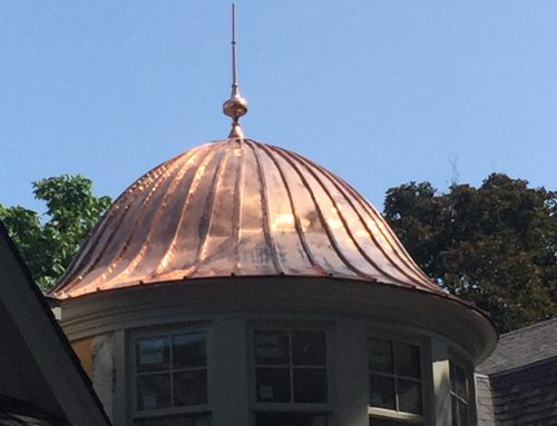 Copper Roofing for Turret in Oakville Area